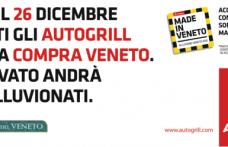 """A Natale e Santo Stefano """"Compra Veneto"""" in Autogrill"""