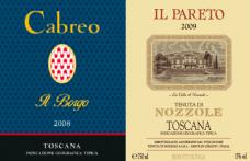 I Vini del 2013: Folonari punta su Il Pareto 2009 e Cabreo Il Borgo 2008