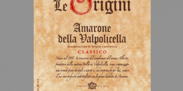 I Vini del 2013: Bolla suggerisce l'Amarone Le Origini 2008