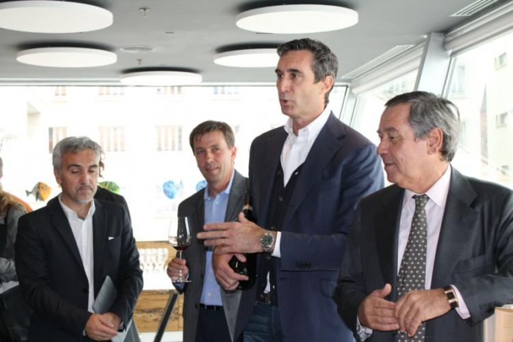 Da destra Gaetano Marzotto, presidente di Santa Margherita, Ettore Nicoletto, ad, Andrea Daldin, responsabile tecnico Lamole di Lamole e Alberto Ugolini, brand ambassador