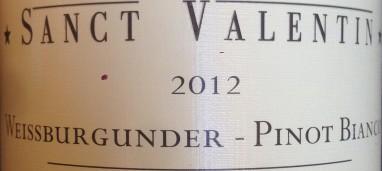 Pinot bianco Sanct Valentin 2012