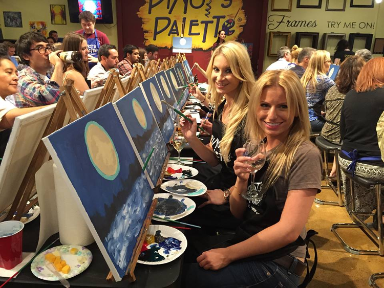Paint sip dipingi e assaggi la moda usa civilt del bere for Wine and painting mn