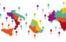 Nella mappa degli autoctoni localizziamo i vitigni tipici