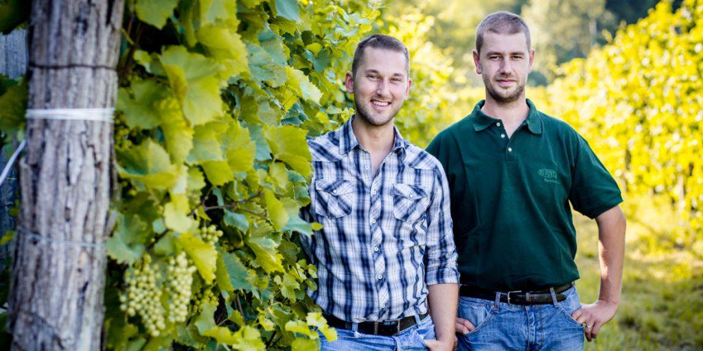 I giovani produttori Cristian e Michele Specogna
