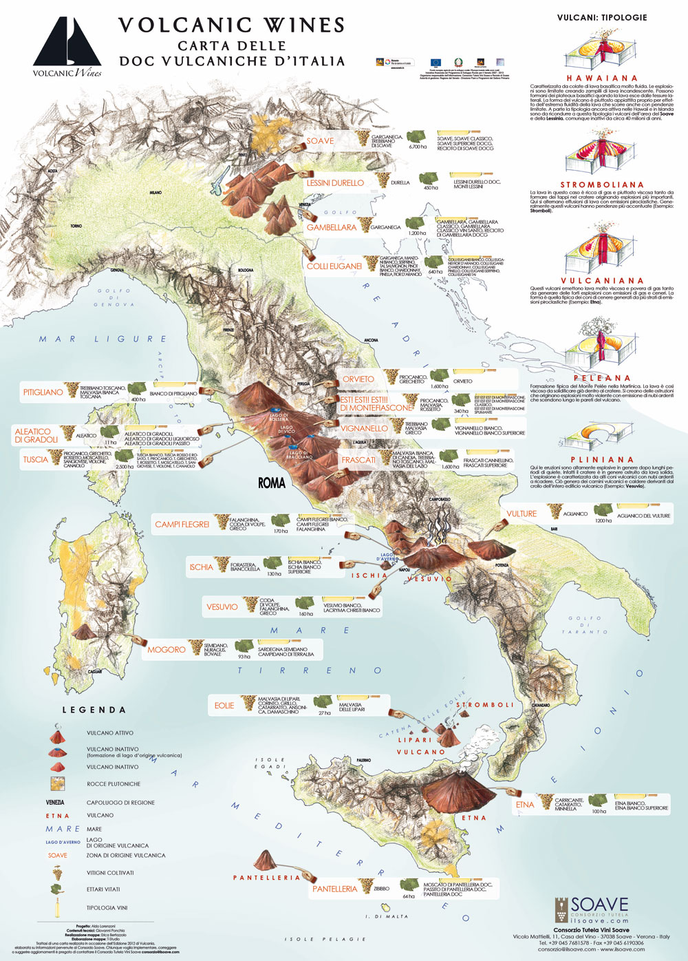 Cartina Italia Con Vulcani.Vini Vulcanici In Italia La Mappa Da Soave A Pantelleria