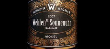 """Sonnenuhr """"Wehlen"""" Mosel 2014 Geheimrat J. Wegeler"""