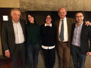 Da sinistra, D'Afflitto, Minoggio, Fusari, Lamberto Frescobaldi e Nesi