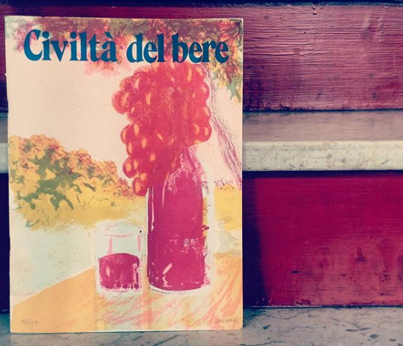La prima copertina di Civiltà del bere disegnata da Aligi Sassu