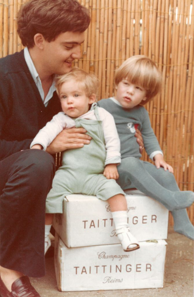 Pierre-Emmanuel Taittinger con i figli Vitalie e Clovis