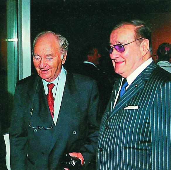 Sirio Maccioni insieme a Pino Khail (a sinistra), fondatore di Civiltà del bere