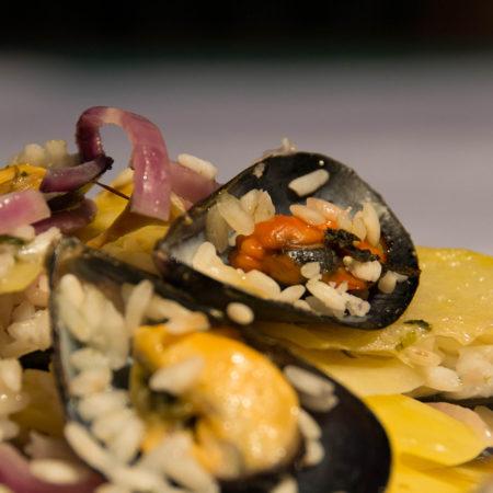 vino e cucina pugliese Biella riso patate cozze
