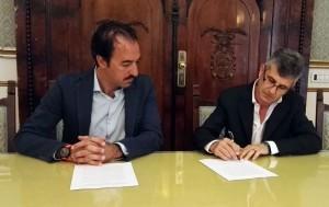 La firma del protocollo di Mastroberardino in Cilento