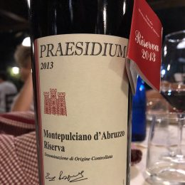 Montepulciano d'Abruzzo Riserva 2013 Praesidium