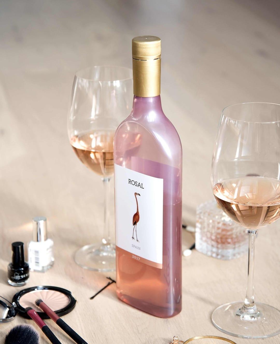 bottiglie di vino piatte
