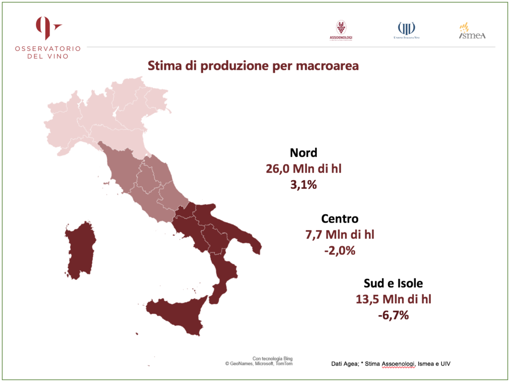vino italiano mappa produzione 2020