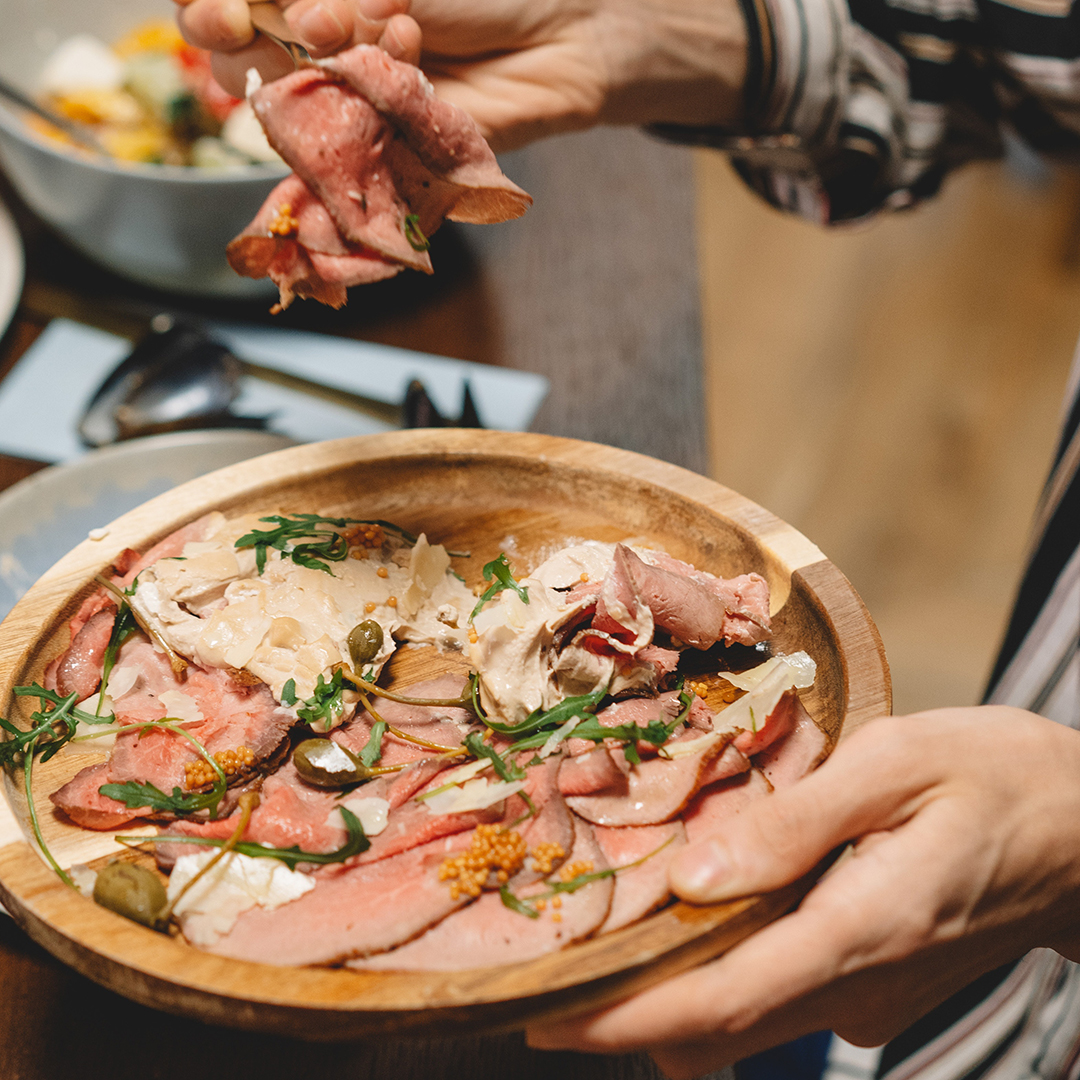 Roastbeef grana e rucola - abbinamento cibo vino
